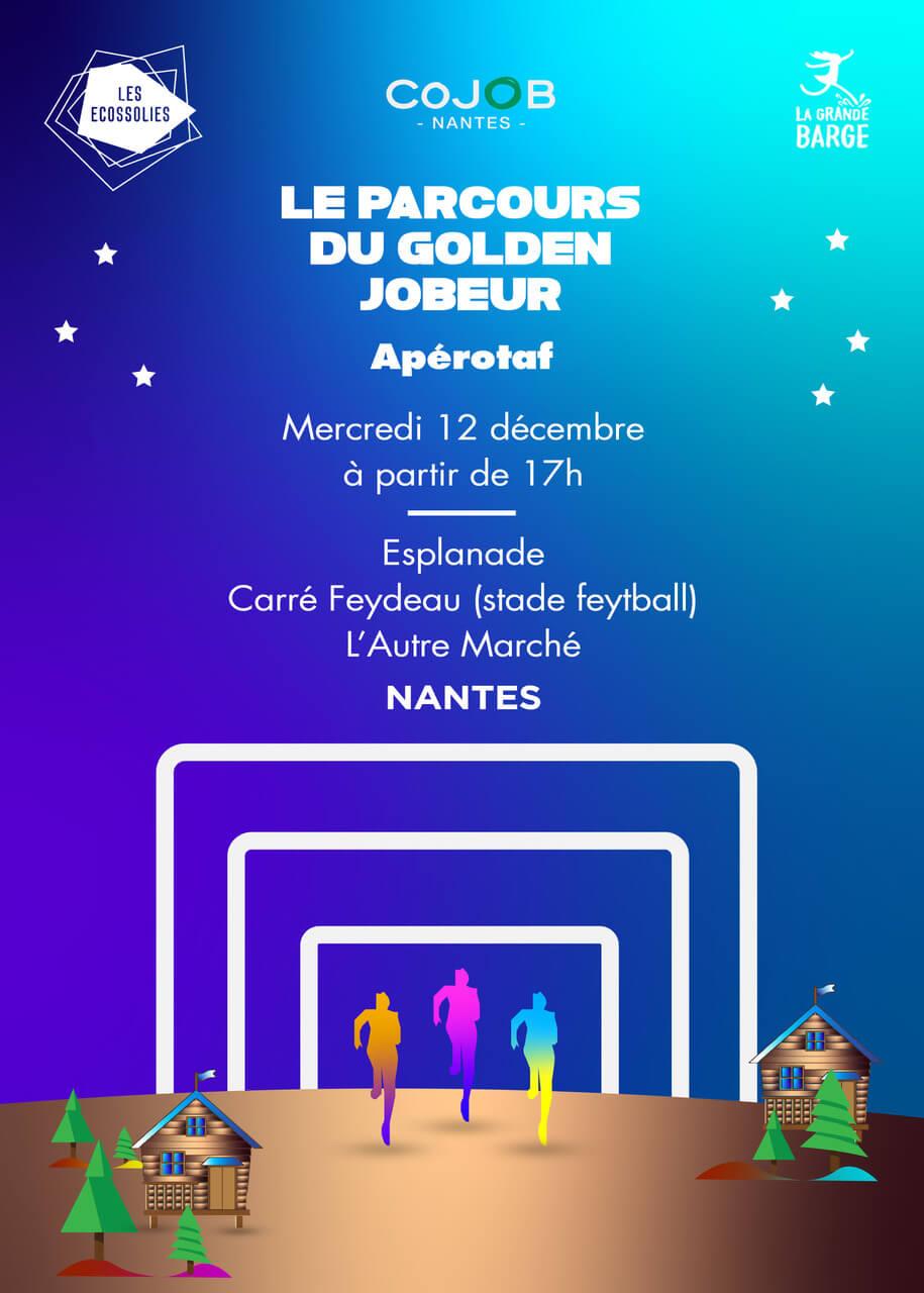 Affiche de l'apérotaf du 12 décembre 2018 de Cojob Nantes